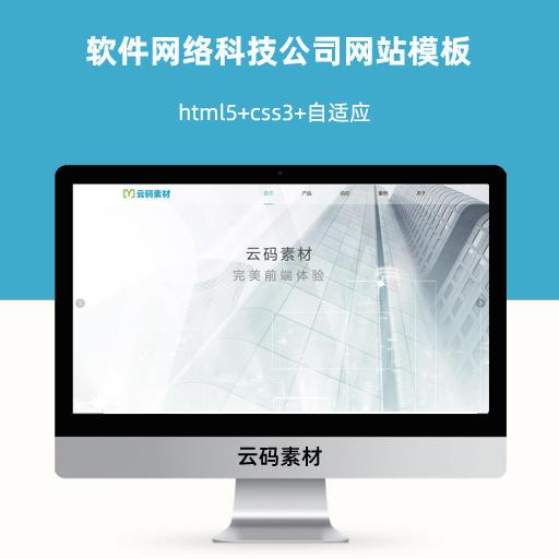 软件网络科技信息公司自适应网站模板